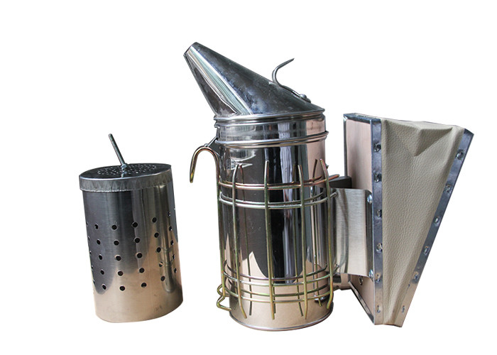 Galvanized Bee Smoker  with Inner Tin M and L Size of Bee Hive Smoker